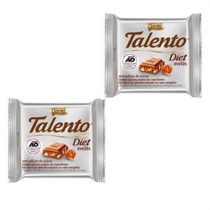 Chocolate Talento Diet avelãs 25g Garoto - 2 Unidades  - Diabetes On - Vendido e Entregue por Diabetic Center