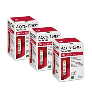 Compre 3 caixas de Accu-Chek Performa Tiras com 50  - Diabetes On - Vendido e Entregue por Diabetic Center