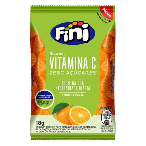Fini Vitamina C Sabor Laranja Zero Açúcar - 3 Unidades de 18g cada  - Diabetes On - Vendido e Entregue por Diabetic Center