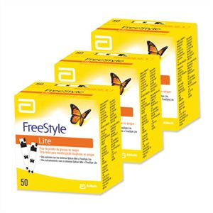 Freestyle Lite 3 caixas com 50 tiras reagentes  - Diabetes On - Vendido e Entregue por Diabetic Center