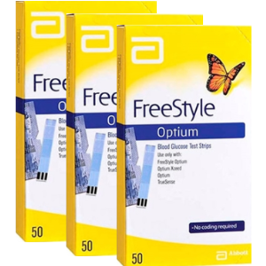 Freestyle Optium 3 caixas com 50 tiras reagentes  - Diabetes On - Vendido e Entregue por Diabetic Center