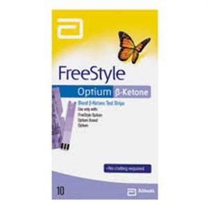 Freestyle Optium Cetona com 10 tiras reagentes  - Diabetes On - Vendido e Entregue por Diabetic Center