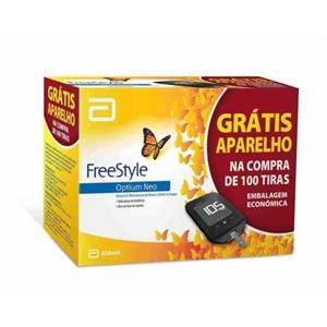 Freestyle Optium Neo Monitor de Glicemia e Cetona + 100 tiras de glicemia (val. tiras 04/2022)  - Diabetes On - Vendido e Entregue por Diabetic Center
