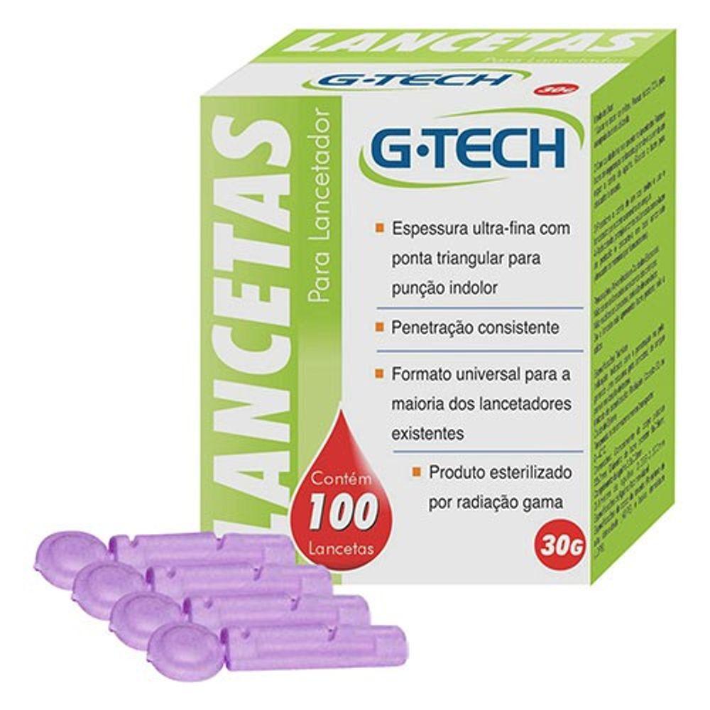 G-Tech Lancetas para lancetador 30G com 100 unidade  - Diabetes On - Vendido e Entregue por Diabetic Center