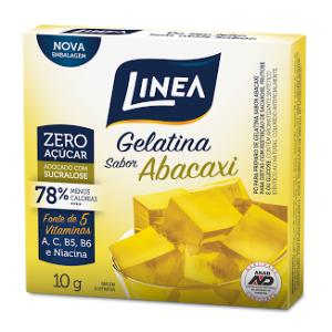 Gelatina de abacaxi zero açúcar Linea Sucralose - Cx. 10g  - Diabetes On - Vendido e Entregue por Diabetic Center