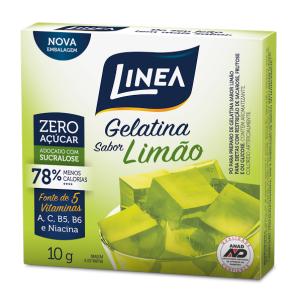 Gelatina de limão zero açúcar Linea Sucralose - Cx. 10g  - Diabetes On - Vendido e Entregue por Diabetic Center