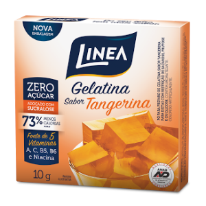 Gelatina de tangerina zero açúcar Linea Sucralose - Cx. 10g  - Diabetes On - Vendido e Entregue por Diabetic Center