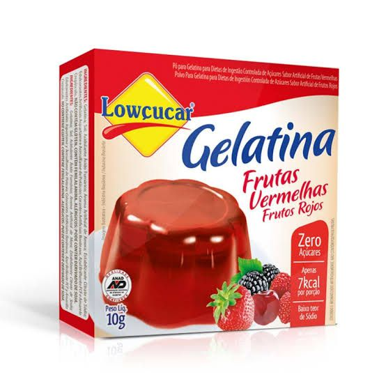 Gelatina Lowçucar Sabor Frutas Vermelhas 10g  - Diabetes On - Vendido e Entregue por Diabetic Center