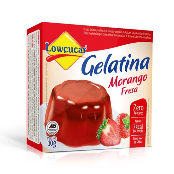 Gelatina Lowçucar Sabor Morango 10g  - Diabetes On - Vendido e Entregue por Diabetic Center
