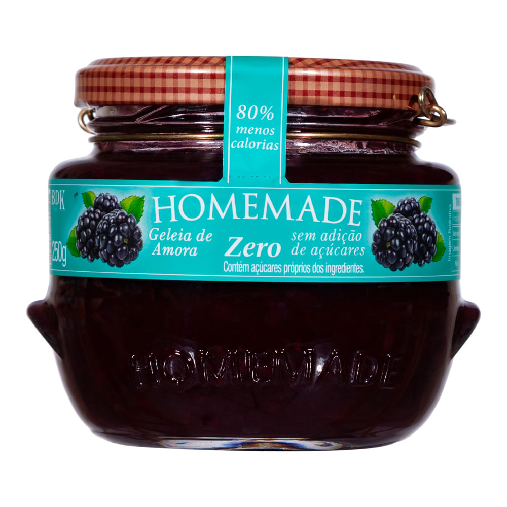 Geleia de Amora Zero Homemade 250g  - Diabetes On - Vendido e Entregue por Diabetic Center