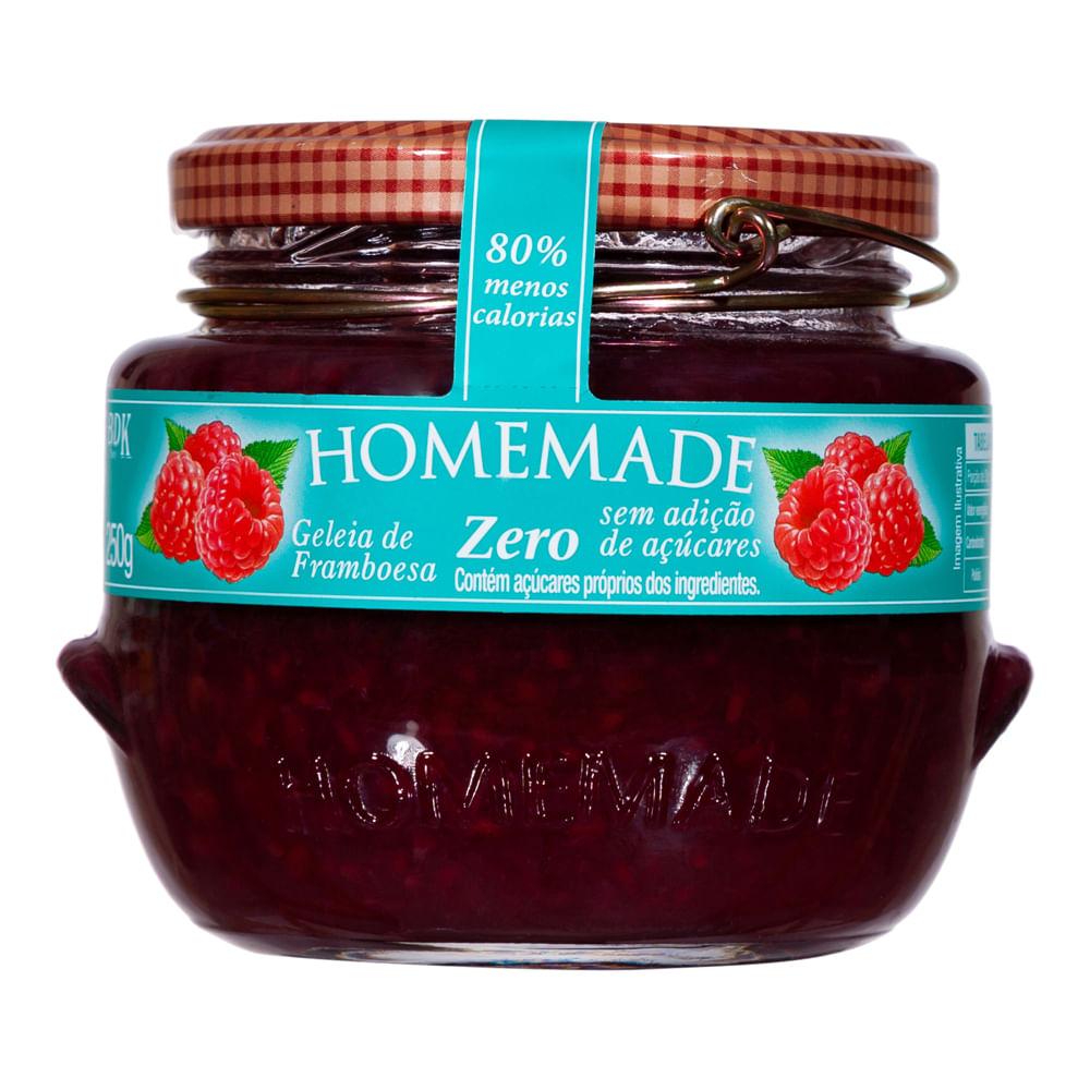 Geleia de Framboesa Zero Homemade 250g  - Diabetes On - Vendido e Entregue por Diabetic Center