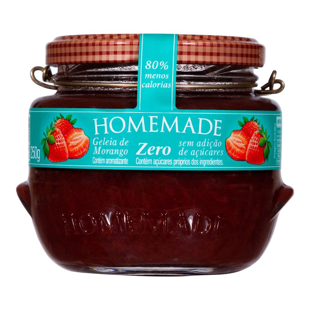 Geleia de Morango Zero Homemade 250g  - Diabetes On - Vendido e Entregue por Diabetic Center