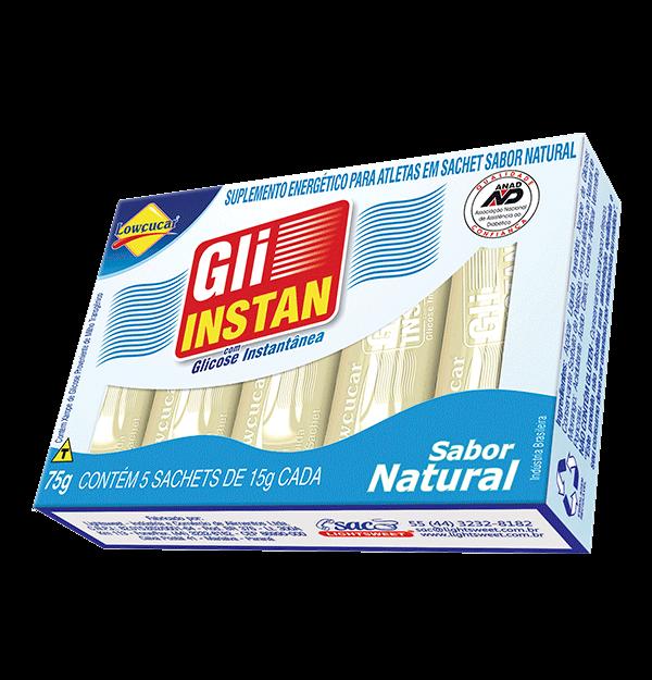 Gli-instan Lowçucar Sabor Natural Glicose Instantânea 5x15g  - Diabetes On - Vendido e Entregue por Diabetic Center