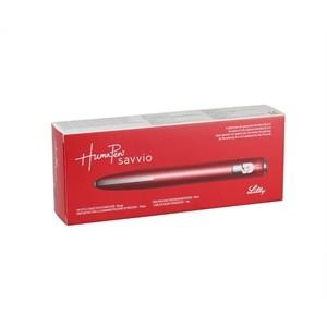 Humapen Savvio Vermelha - caneta de aplicação de insulina (para insulinas Humulin, Humalog e Humalog Mix refil)  - Diabetes On - Vendido e Entregue por Diabetic Center