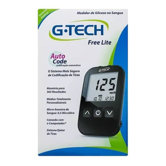 Kit G-Tech Free Lite (kit com 1 monitor, 1 lancetador, 10 lancetas, 10 tiras e estojo)  - Diabetes On - Vendido e Entregue por Diabetic Center