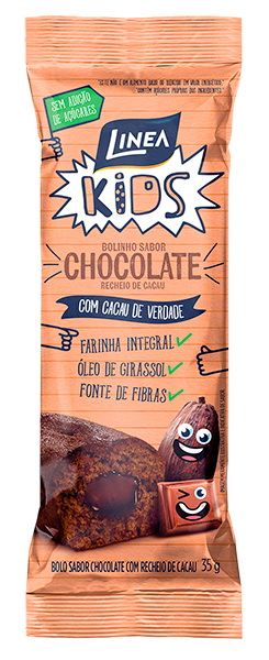 Linea Kids Bolinho de Chocolate recheado com Cacau - 35 g  - Diabetes On - Vendido e Entregue por Diabetic Center