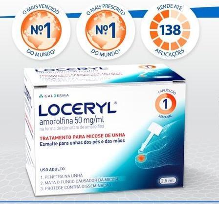 Loceryl Esmalte 50mg 5% Galderma 2,5ml ( Validade - 06/21 )  - Diabetes On - Vendido e Entregue por Diabetic Center