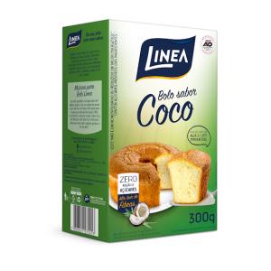 Mistura Para Bolo Linea Sabor Coco Com 300 Gramas  - Diabetes On - Vendido e Entregue por Diabetic Center