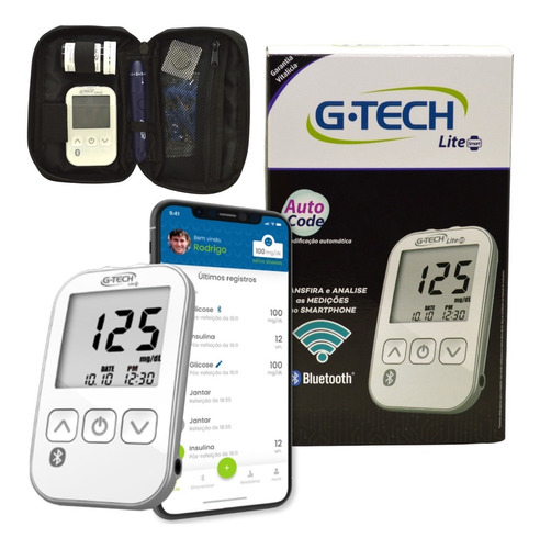 Kit G-Tech Free Lite smart + 100 tiras  (kit com 1 monitor, 1 lancetador, 10 lancetas, 10 tiras e estojo)   - Diabetes On - Vendido e Entregue por Diabetic Center