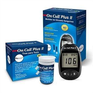 Monitor On Call Plus II (monitor + 10 lancetas + 1 lancetador) + 50 tiras  - Diabetes On - Vendido e Entregue por Diabetic Center