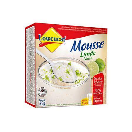 Mousse Lowçucar Zero Adição de Açúcares Sabor Limão 25g  - Diabetes On - Vendido e Entregue por Diabetic Center