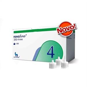 Novofine 4mm com 100 Agulhas para Caneta de Insulina Compatível com Todas as Canetas Disponíveis no Mercado e Victoza  - Diabetes On - Vendido e Entregue por Diabetic Center