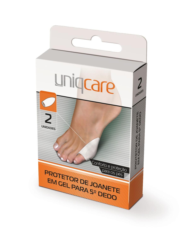 Protetor de Joanete em Gel para 5º Dedo UniqCare 2 Unidades  - Diabetes On - Vendido e Entregue por Diabetic Center