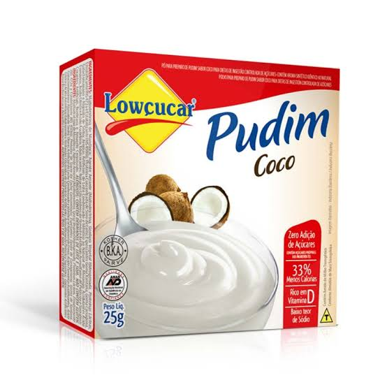 Pudim Lowçucar Zero Adição de Açúcares Sabor Coco 25g  - Diabetes On - Vendido e Entregue por Diabetic Center