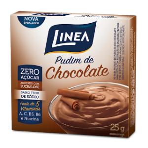 Pudim Zero Açúcar Línea- Chocolate cx 25g  - Diabetes On - Vendido e Entregue por Diabetic Center