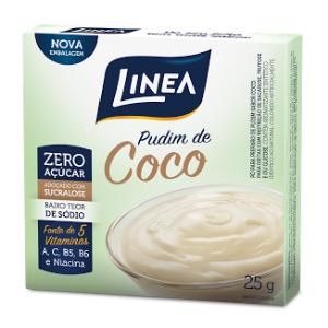 Pudim Zero Açúcar Línea- Coco cx 25g  - Diabetes On - Vendido e Entregue por Diabetic Center