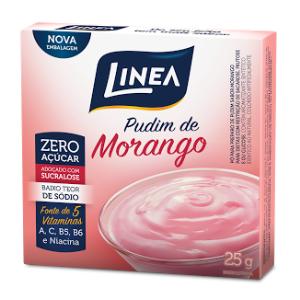 Pudim Zero Açúcar Línea- Morango cx 25g  - Diabetes On - Vendido e Entregue por Diabetic Center