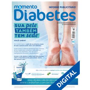 """Revista Física Momento Diabetes """"Sua Pele também tem sede"""" Edição n°26  - Diabetes On - Vendido e Entregue por Diabetic Center"""