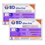 Seringa para Insulina BD Ultrafine 0,3mL (30UI) Agulha 6x0,25mm 31G - LEVE 2 PACOTES  - Diabetes On - Vendido e Entregue por Diabetic Center