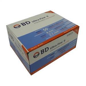 Seringa para Insulina BD Ultrafine 0,5mL (50UI) Agulha 8x0,3mm 30G - Caixa com 100 seringas  - Diabetes On - Vendido e Entregue por Diabetic Center