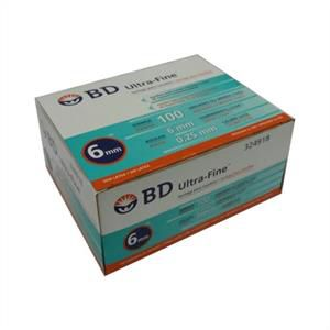 Seringa para Insulina BD Ultrafine 1mL (100UI) Agulha 6x0,25mm 31G - Caixa com 100 seringas  - Diabetes On - Vendido e Entregue por Diabetic Center