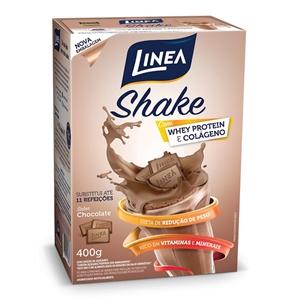 Shake de chocolate zero açúcar Linea Sucralose - Cx. 400g  - Diabetes On - Vendido e Entregue por Diabetic Center