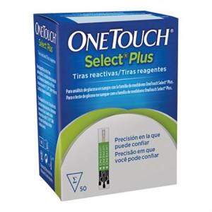 Tiras One Touch Select Plus com 50 unidades - J&J  - Diabetes On - Vendido e Entregue por Diabetic Center