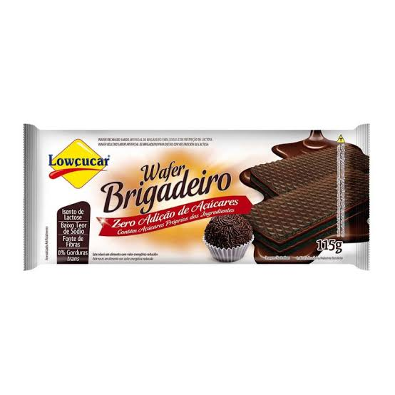 Wafer Lowçucar Zero Açúcares Sabor Brigadeiro 115g  - Diabetes On - Vendido e Entregue por Diabetic Center