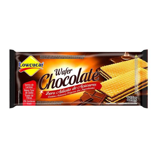 Wafer Lowçucar Zero Açúcares Sabor Chocolate 115g  - Diabetes On - Vendido e Entregue por Diabetic Center