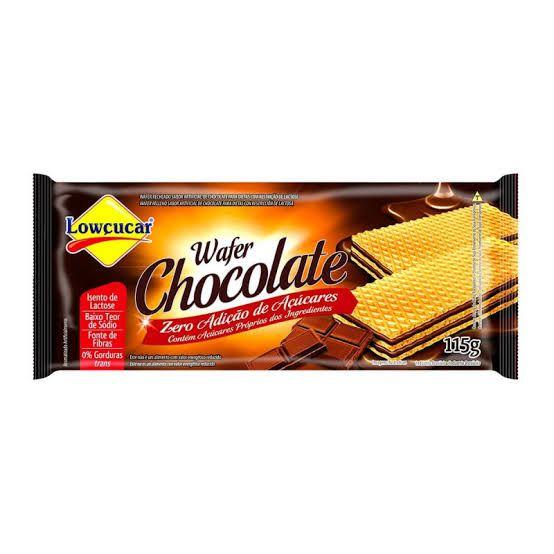 Wafer Lowçucar Zero Açúcares Sabor Chocolate 115g  - Diabetes On - Vendido e Entregue por Diabetic Center