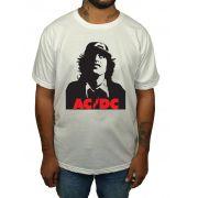 Camiseta AC/DC Angus - Branca