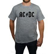Camiseta AC/DC Logo - Cinza Mescla
