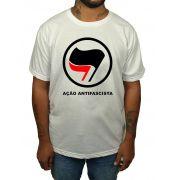 Camiseta Ação Antifascista - Branca