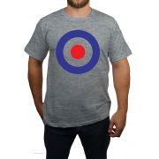 Camiseta - Alvo Mod - Cinza Mescla