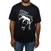 Camiseta Animal Liberation Urso - Preto