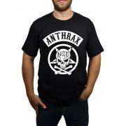 Camiseta Anthrax - Preta