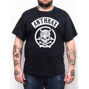 Camiseta Anthrax - Preto - Plus Size - Tamanho Grande Xg