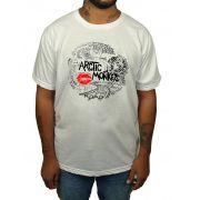 Camiseta Arctic Monkeys - Estampa 2 Cores - Branca