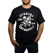 Camiseta Avenged Sevenfold Bat Country - Preta