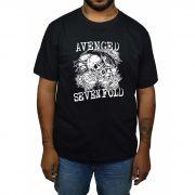 Camiseta Avenged Sevenfold Rosas - Preta